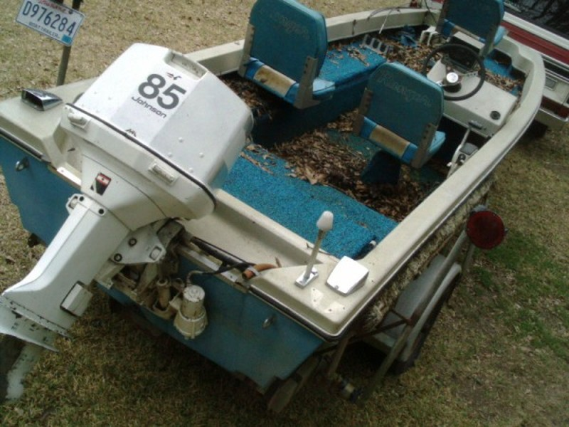 Old Ranger Bass boat, good 85 Hp Johnson, no trailer. $450 ...