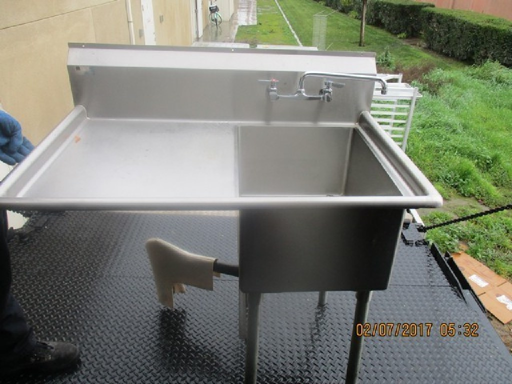 S/S 1 Compartment Sink W/Leftside Drainboard RTR#6122275-17