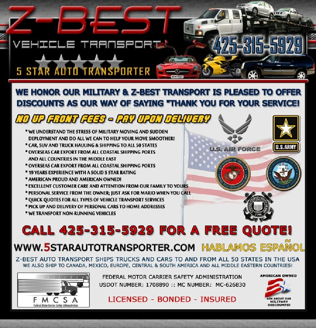 Car Shipping Quote: Call Now 425-315-5929 Shipping Rate