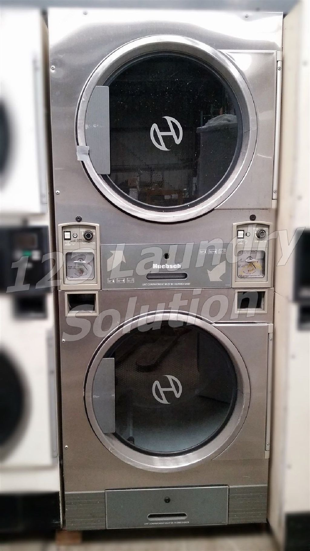 For Sale Huebsch Stack Dryer Coin Op 30lb Jt0300drg 120v