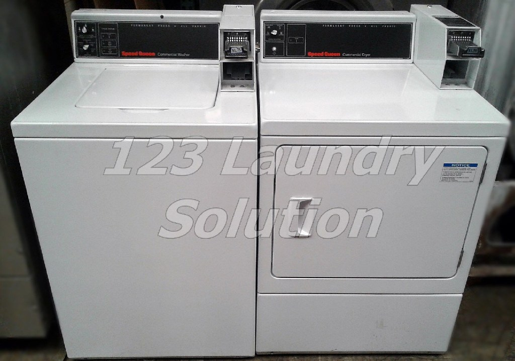 Good Condition Speed Queen Commercial Coin Op Washer And