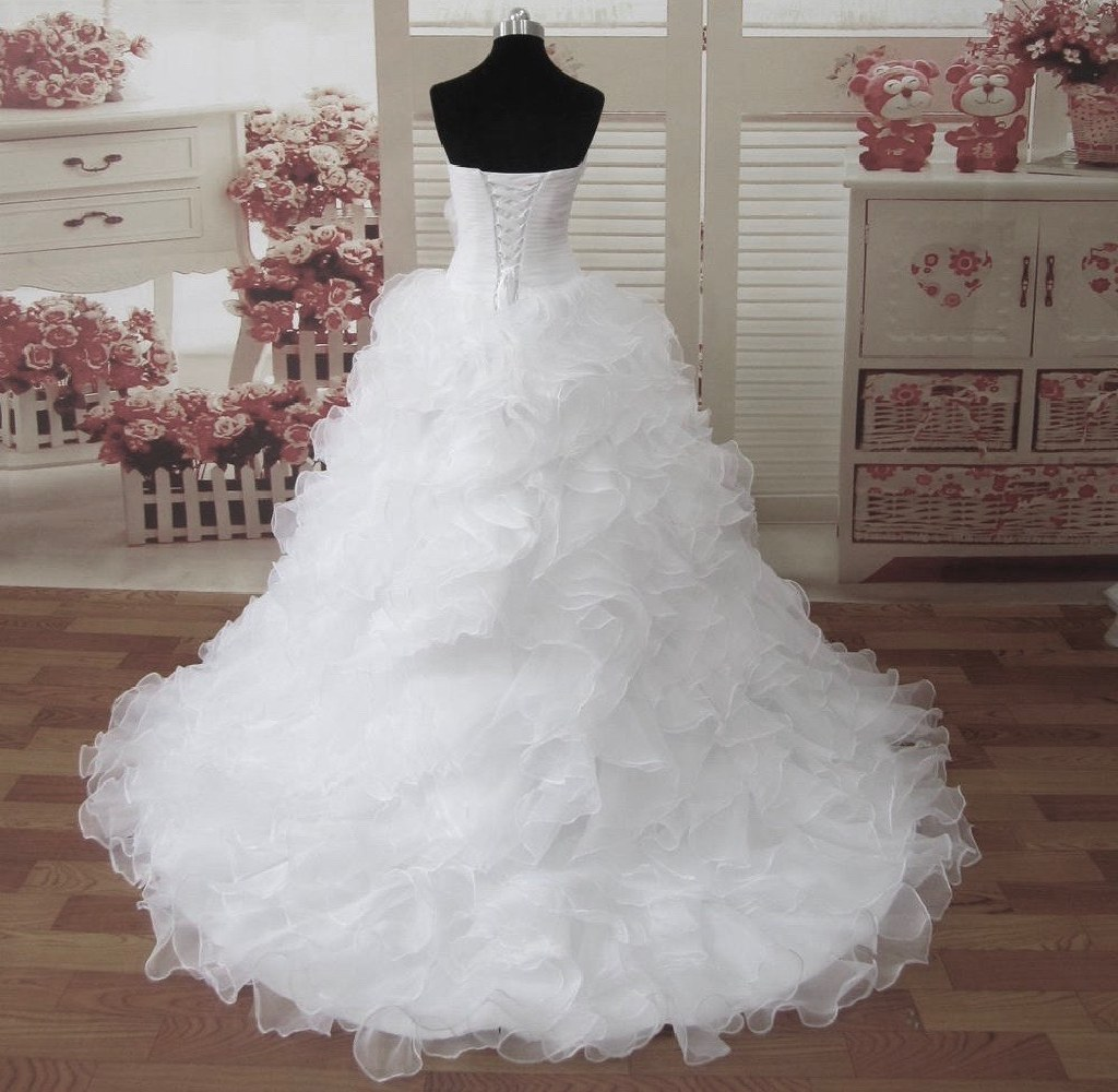 Janet39s organza ruffle a line wedding dress tyler tx for Wedding dresses tyler tx