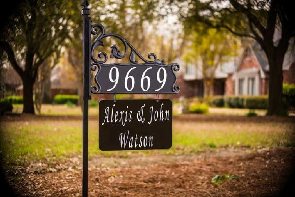Custom Decorative Address Signs For Your Home Claz Org