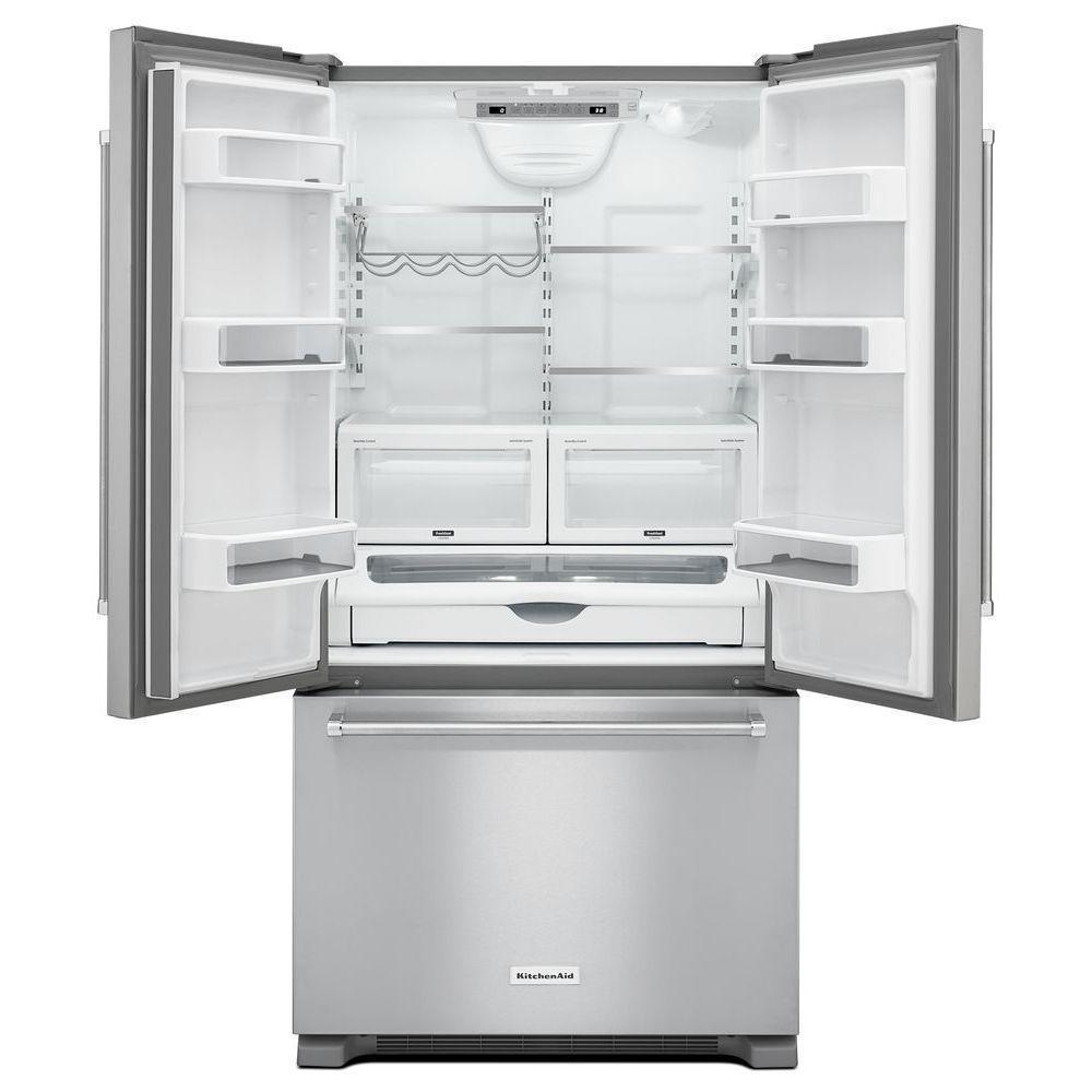 KitchenAid French Door Counter Depth Refrigerator Stainless Steel ...