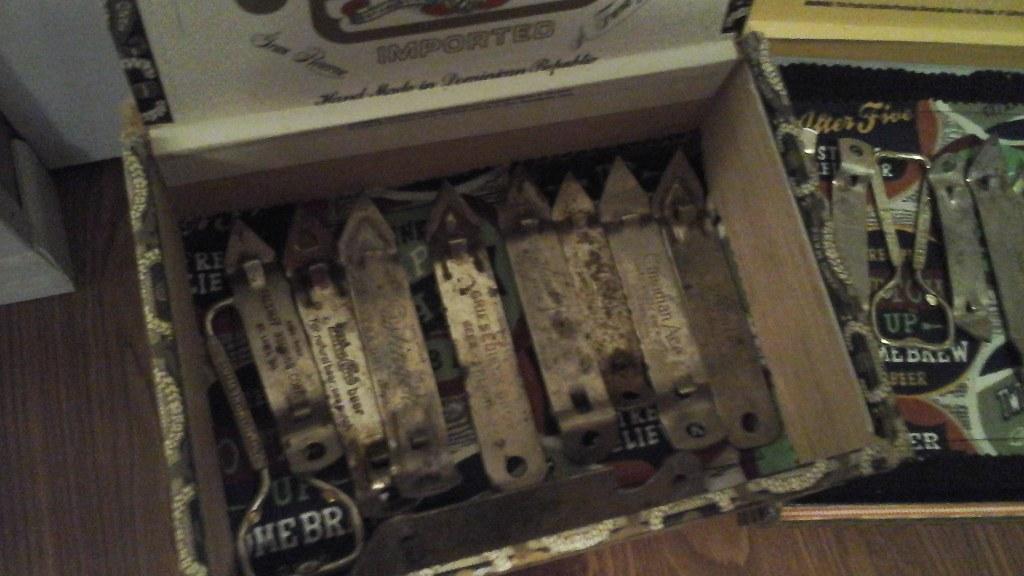 93ff06813d2 Bar Man Cave Vintage Beer Bottle Openers in Cigar Boxes - Claz.org