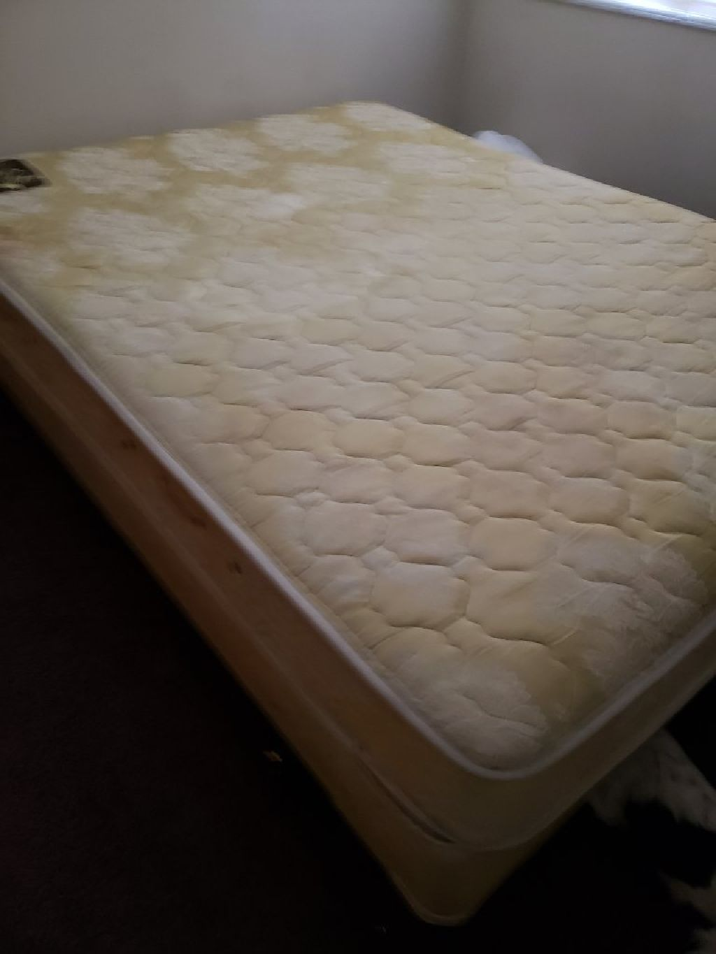 Picture of: Used Queen Size Bed With Mattress Cover Claz Org