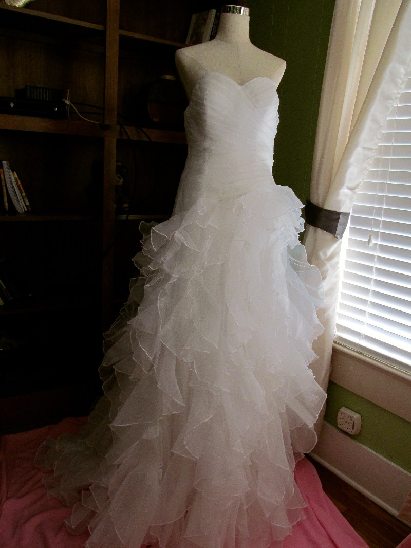 Handmade ivory organza wedding dress 325 tyler tx for Wedding dresses tyler tx
