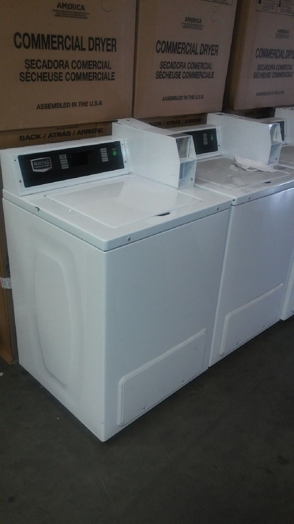 Heavy Duty Maytag Commercial Coin Operated Top Load Washer