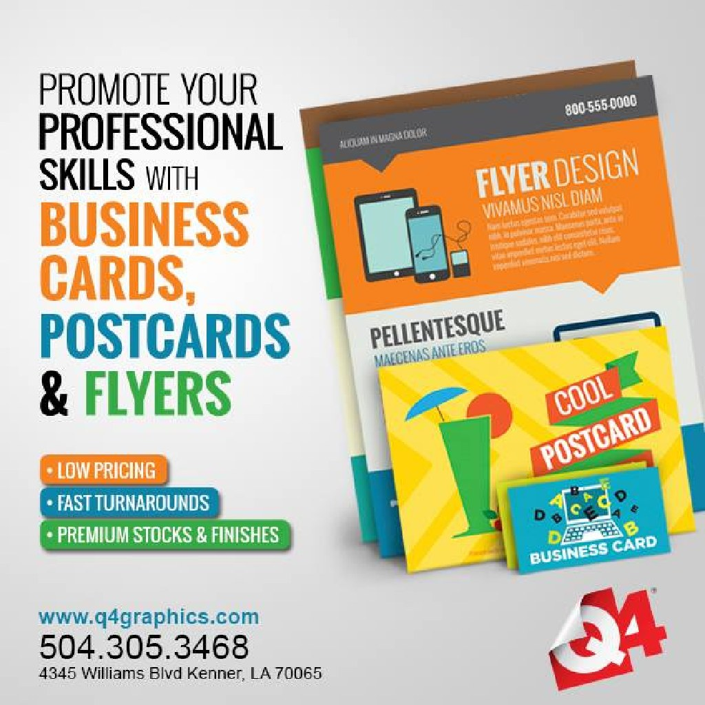 Kenner la printer design and print services flyers business cards business cards reheart Gallery