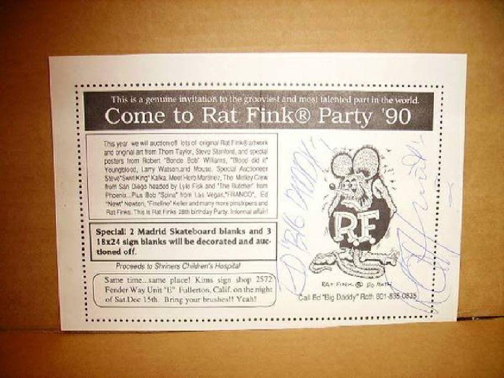 Ed Big Daddy Roth Rat Fink Artist Motocyle Car Claz Org