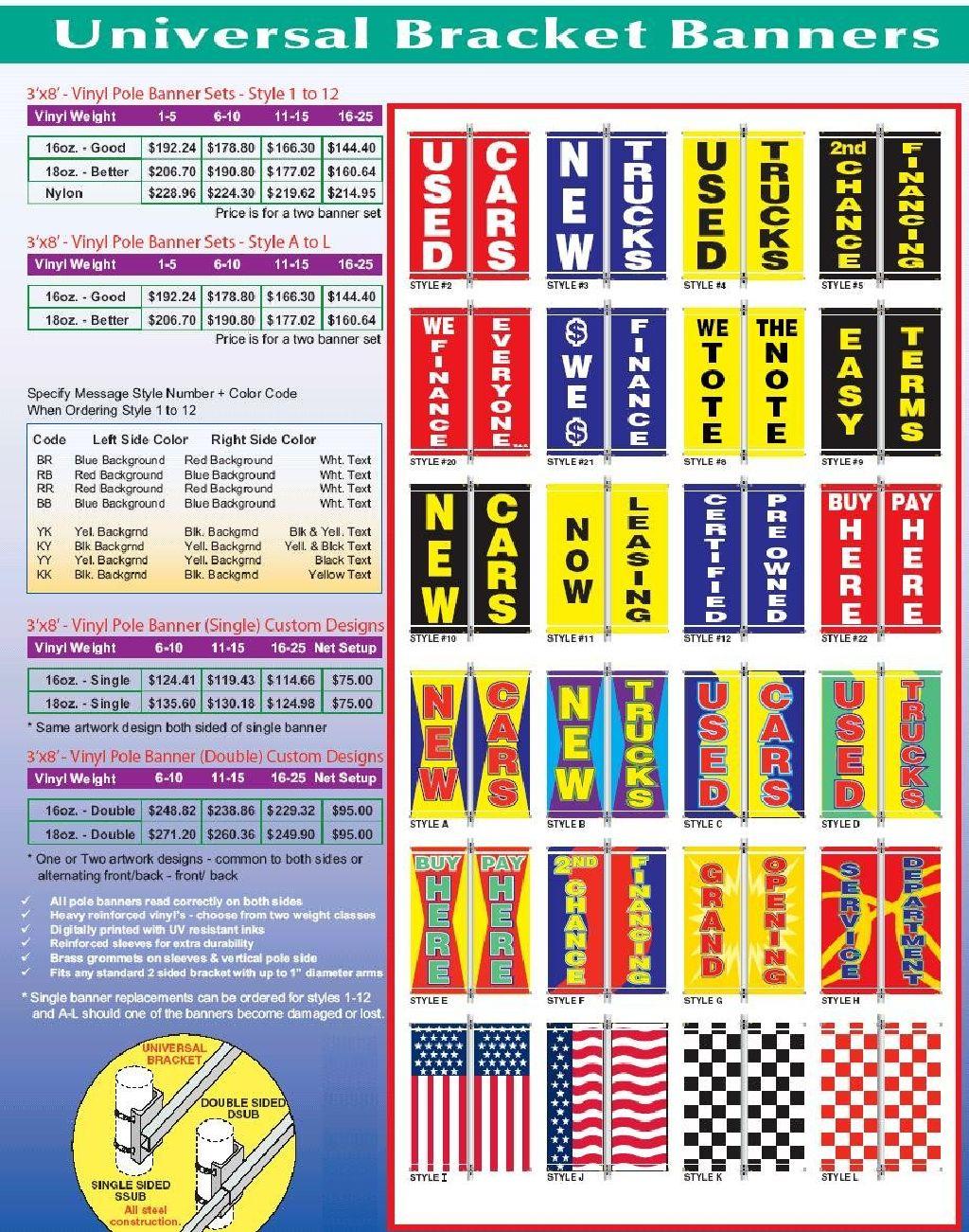 Alt to Banner Flag 3/'x8/' 114 3ft x 8ft Auto Upholstery Vinyl Banner