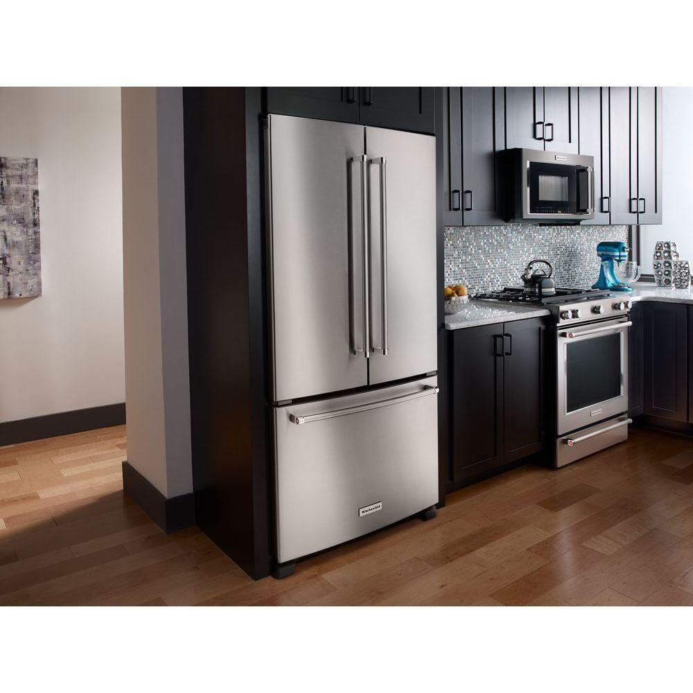Kitchenaid French Door Counter Depth Refrigerator Stainless Steel
