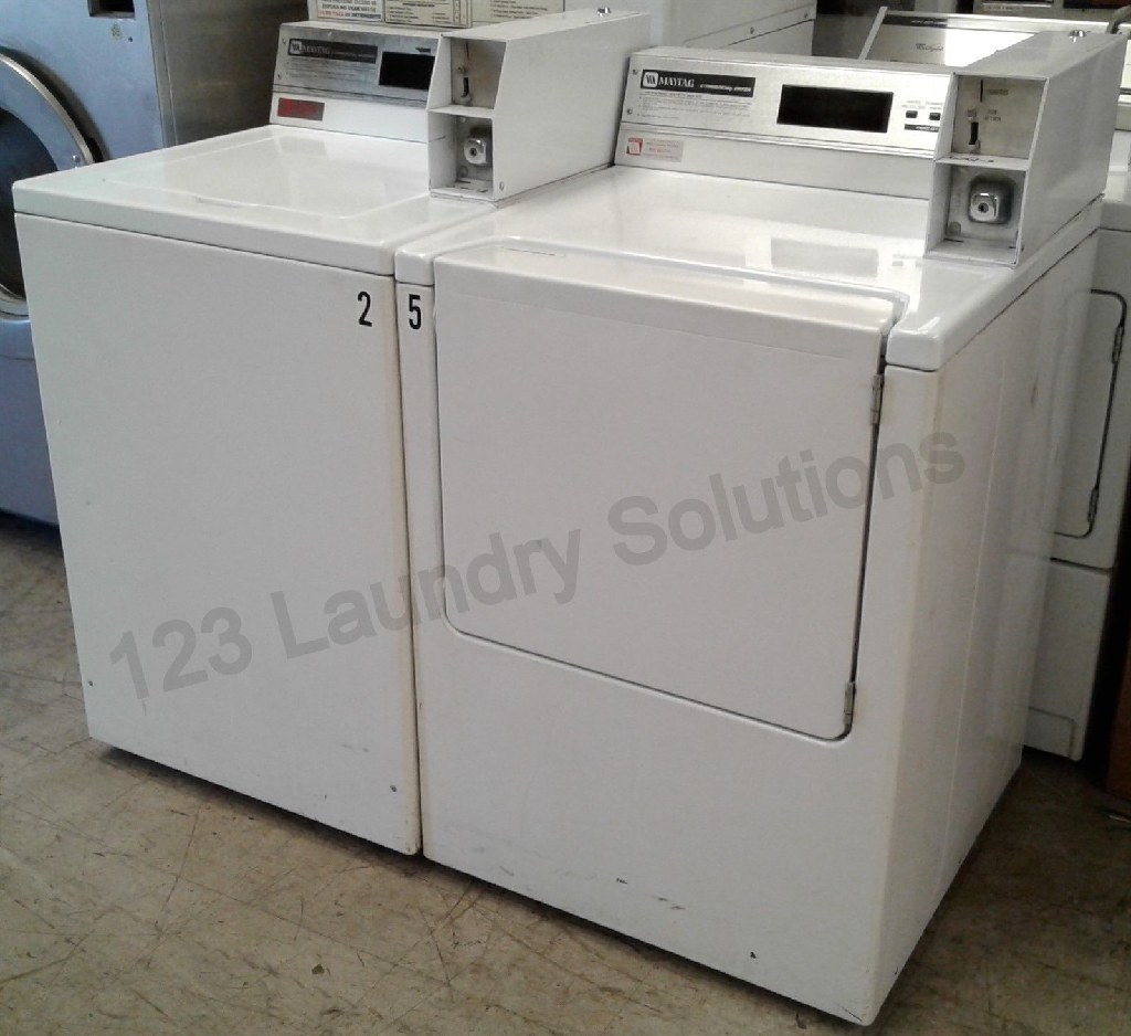 Good Condition Maytag Commercial Coin Op Washer And Dryer