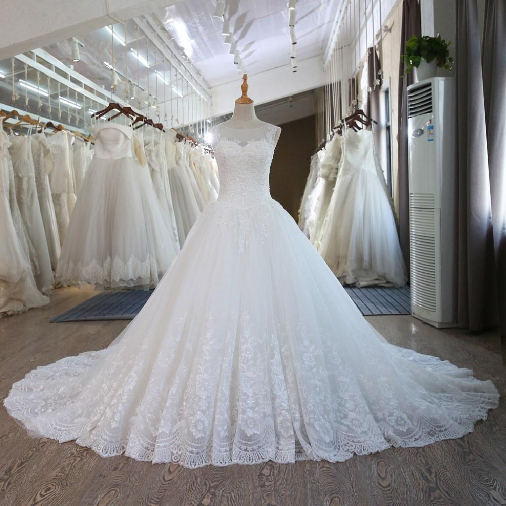 Janet's Lace Up Corset A Line Wedding Dress