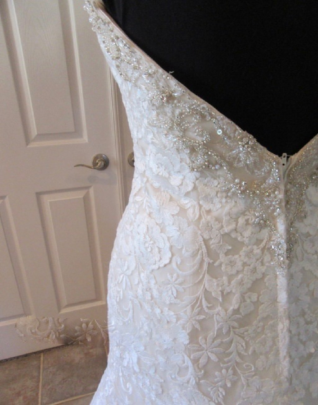 Nelda's Mermaid Lace Wedding Dress