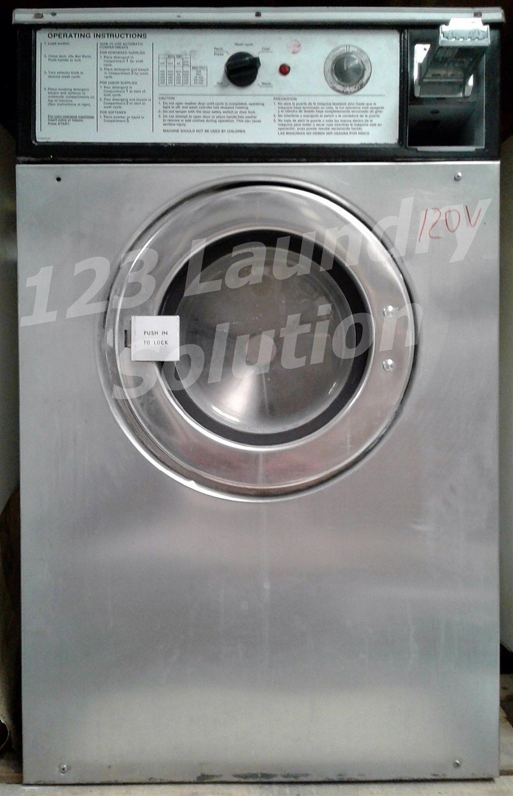 Coin Laundry Wascomat Front Load Washer Double Load W74 120V Stainless Steel