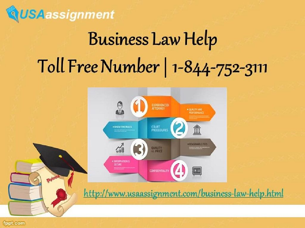 business law assignment 1 Business law chapter 13 (1) the assignment has been made, and (2) discharge by the operation of law 1) statute of limitations.