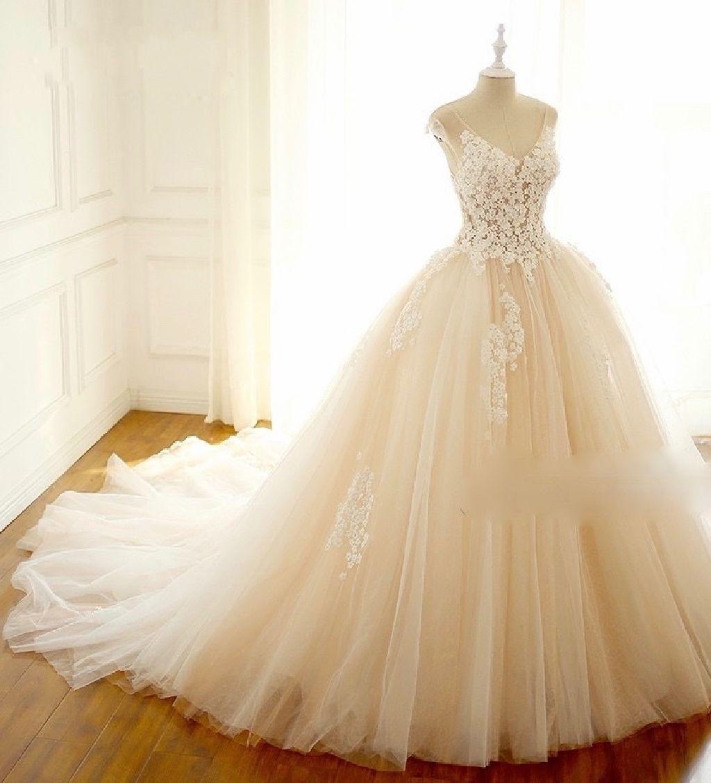 Tessa's Princess Cap Sleeve Wedding Gown