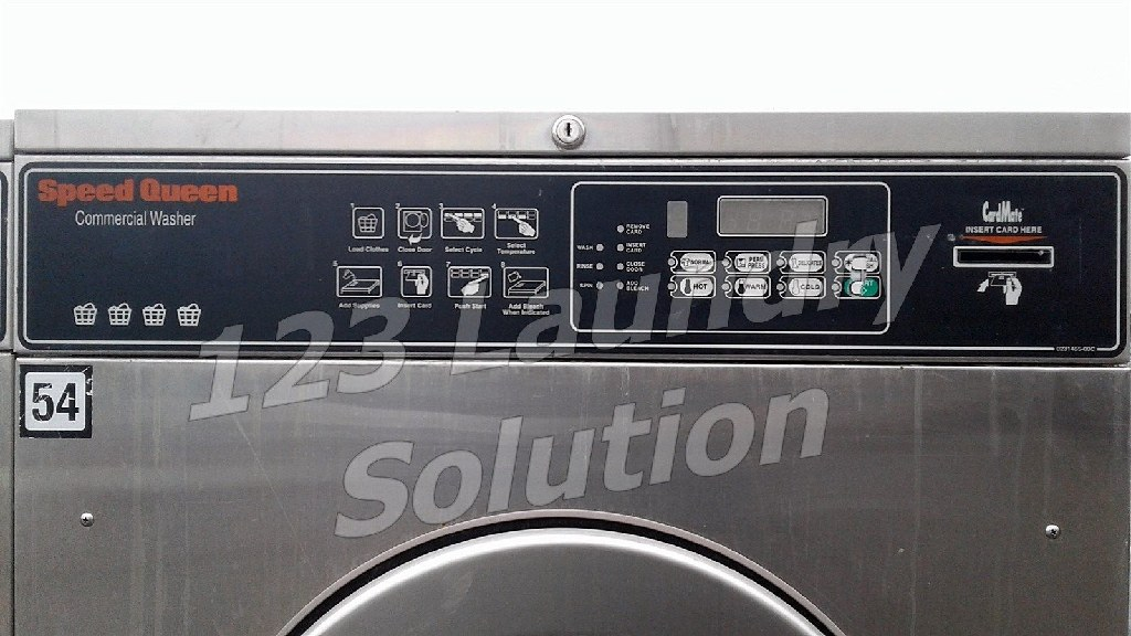 Coin Laundry Speed Queen Commercial Front Load Washer Card Reader 35LB 1PH SC35NR2YN40001
