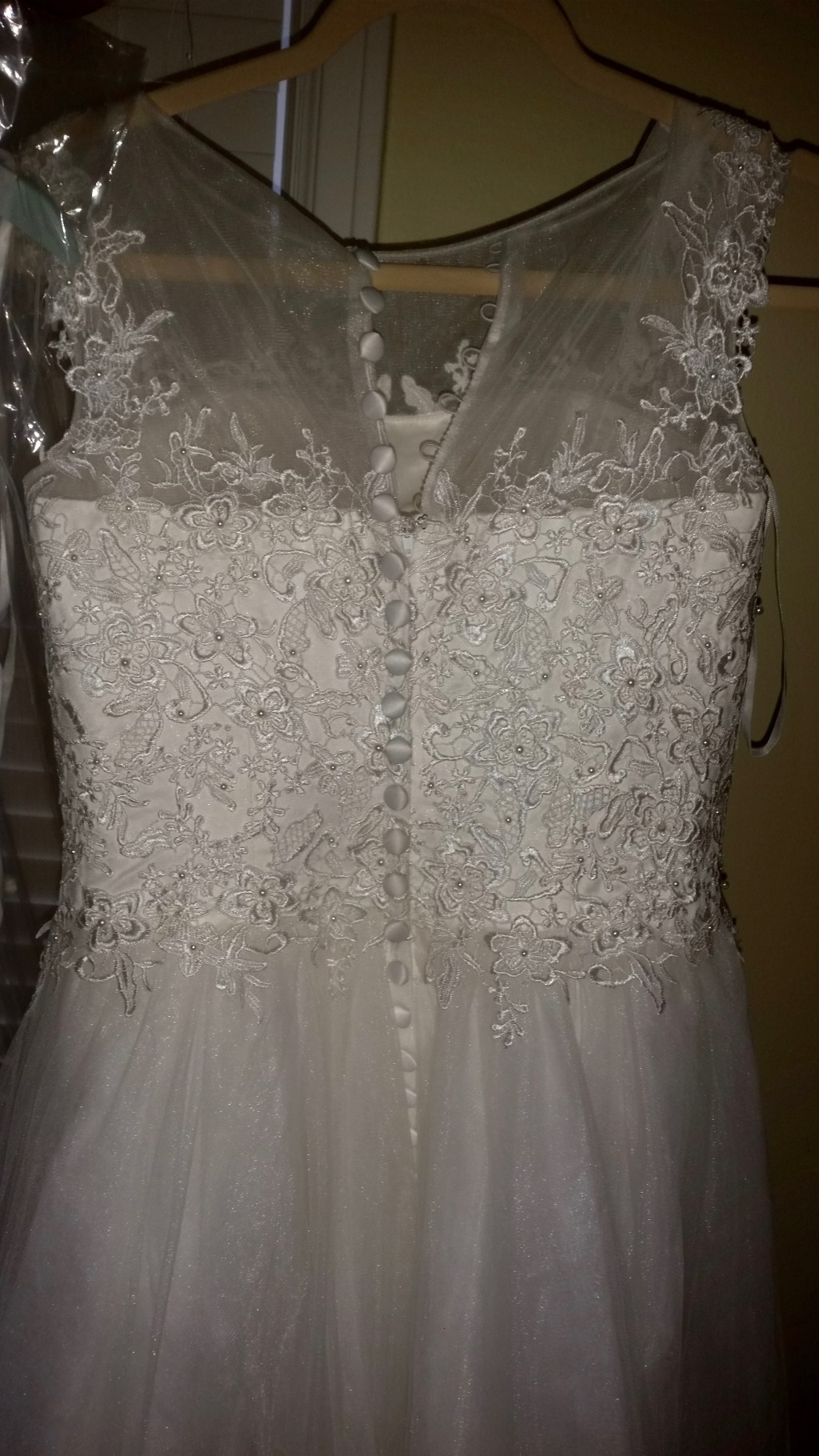 Patricia's A Line Lace Wedding Dress Size 10 Ivory