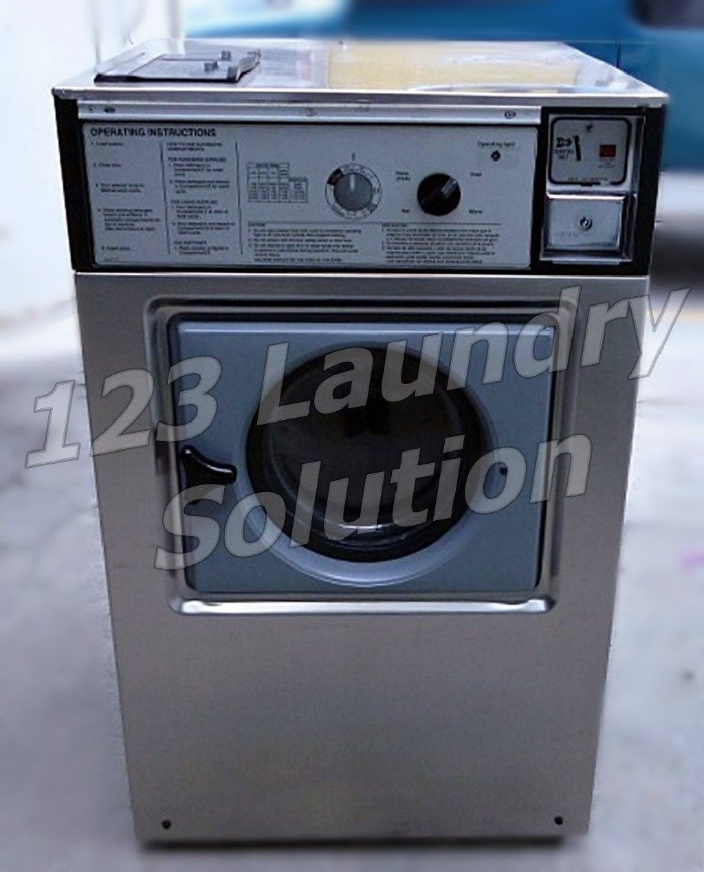 Coin Laundry Wascomat Front Load Washer Double Load W105 Stainless Steel Used