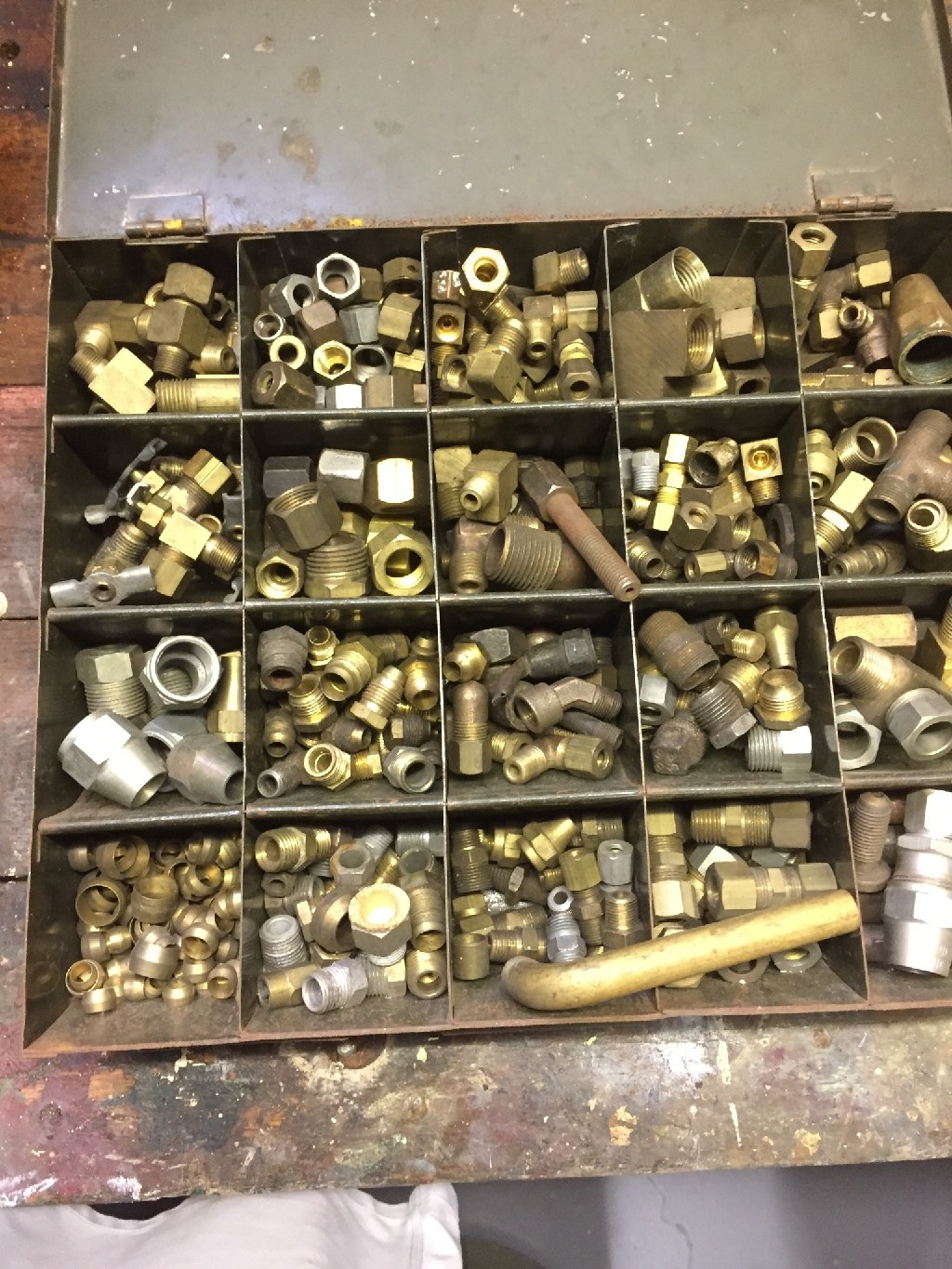Vintage Brass Fittings--Huge Lot