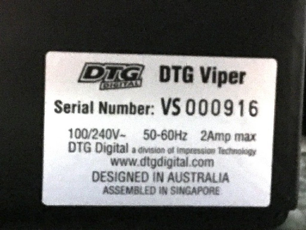DTG Viper Direct to Garment Printer w/ Platens RTR#7043774-01