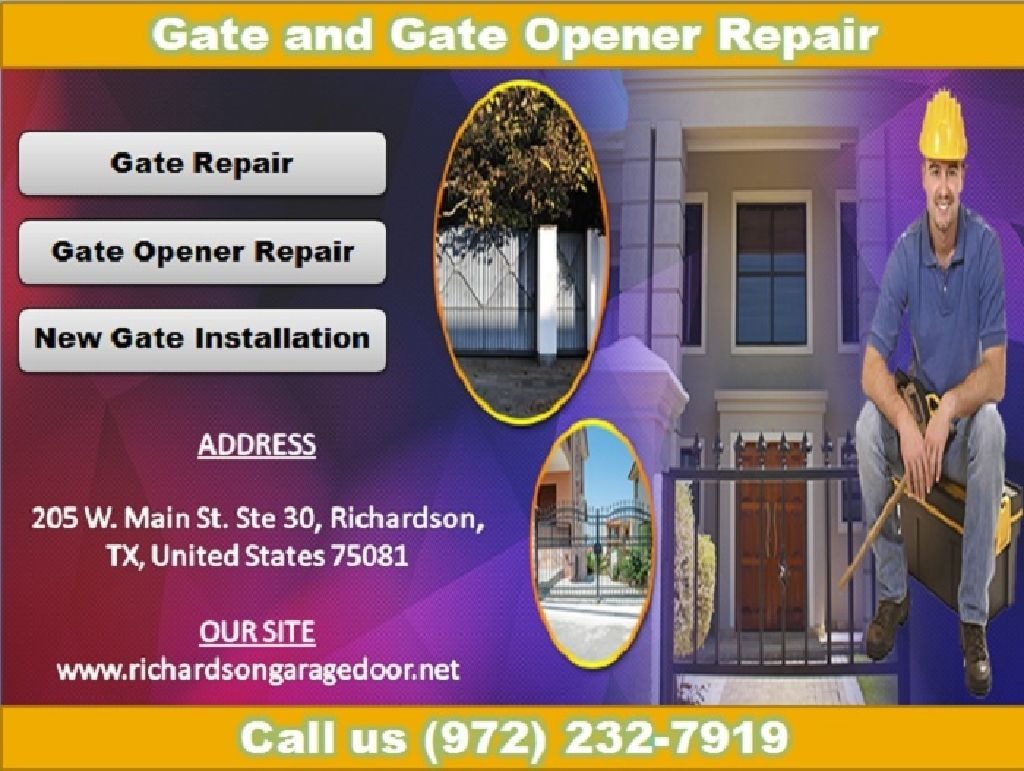Get Effective Gate & Gate Opener Repair Richardson, TX   Starting $26.95