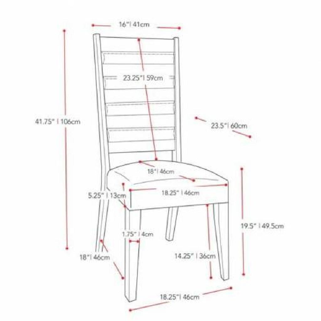 Bistro Ladder Back Cream Dining Chairs