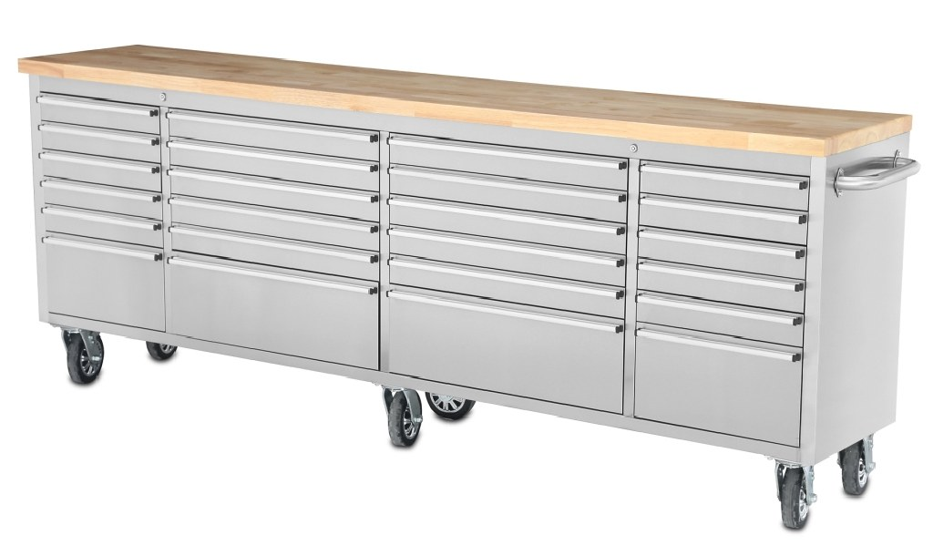 """96"""" Long Stainless Steel Tool Chest"""