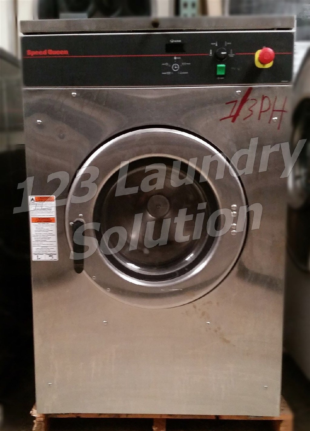 Coin Laundry Speed Queen Front Load Washer OPL 30LB 1/3PH 220V SCN030GNFXU3001 Used