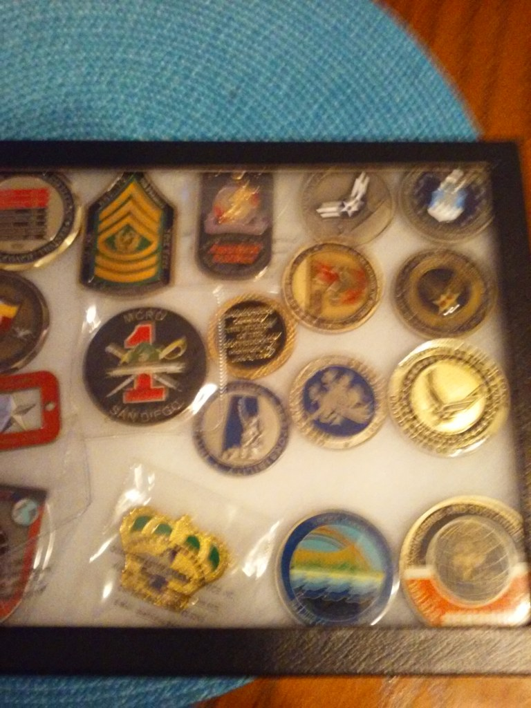 """Military """"CHALLENGE COINS""""..ASSORTED."""