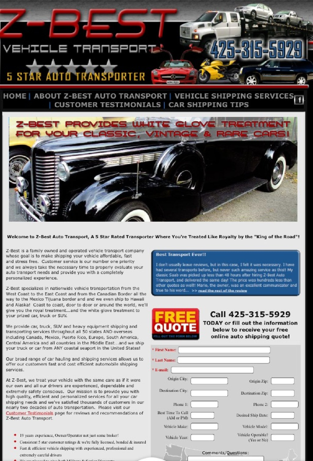 Auto Shipping, Car Shipping services of all type of vehicle statewide, nationwide and worldwide