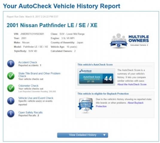 2001 Nissan Pathfinder LE 2WD Auto