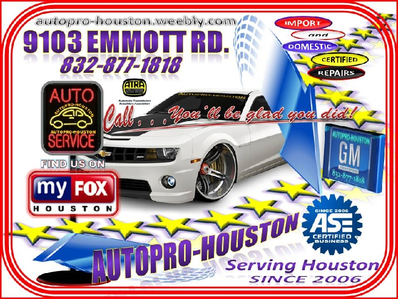 Specialized Auto Repairs for GM Ford Chrysler Dodge Honda Toyota