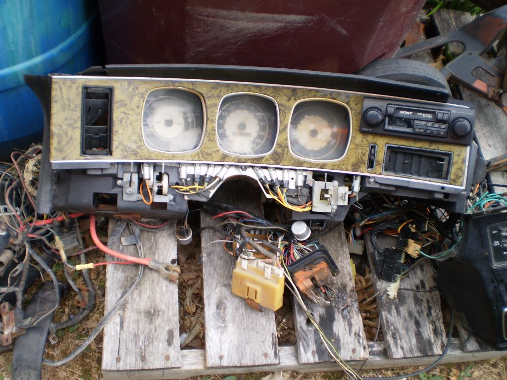 1971-74 AMC Javelin AMX AC Dash Pad with Instrument Cluster Parts gauges and heater ac controls