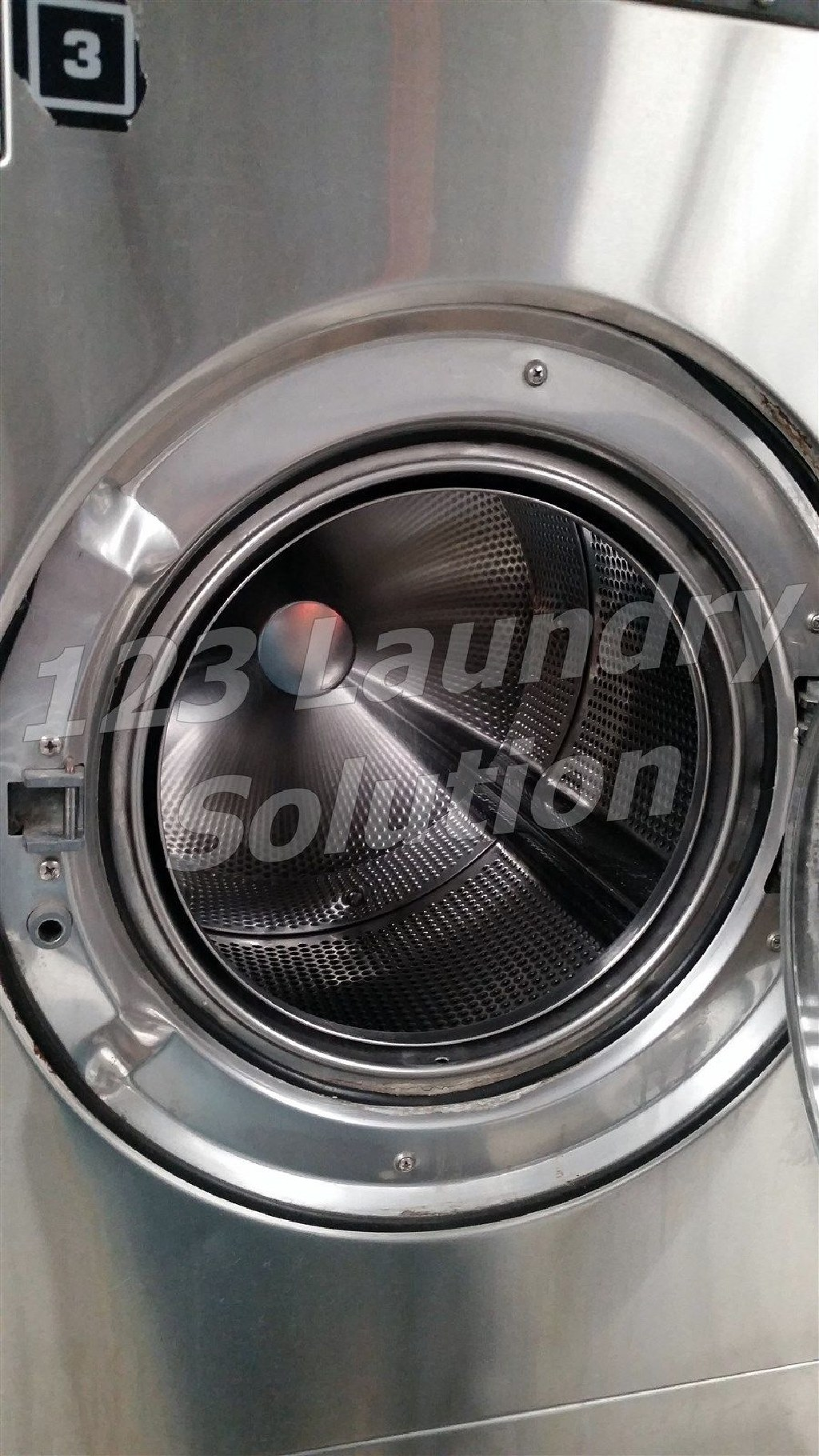 Coin Laundry Maytag Front Load Washer 25LB MFR25PDCWS 110-120v Stainless Steel Used