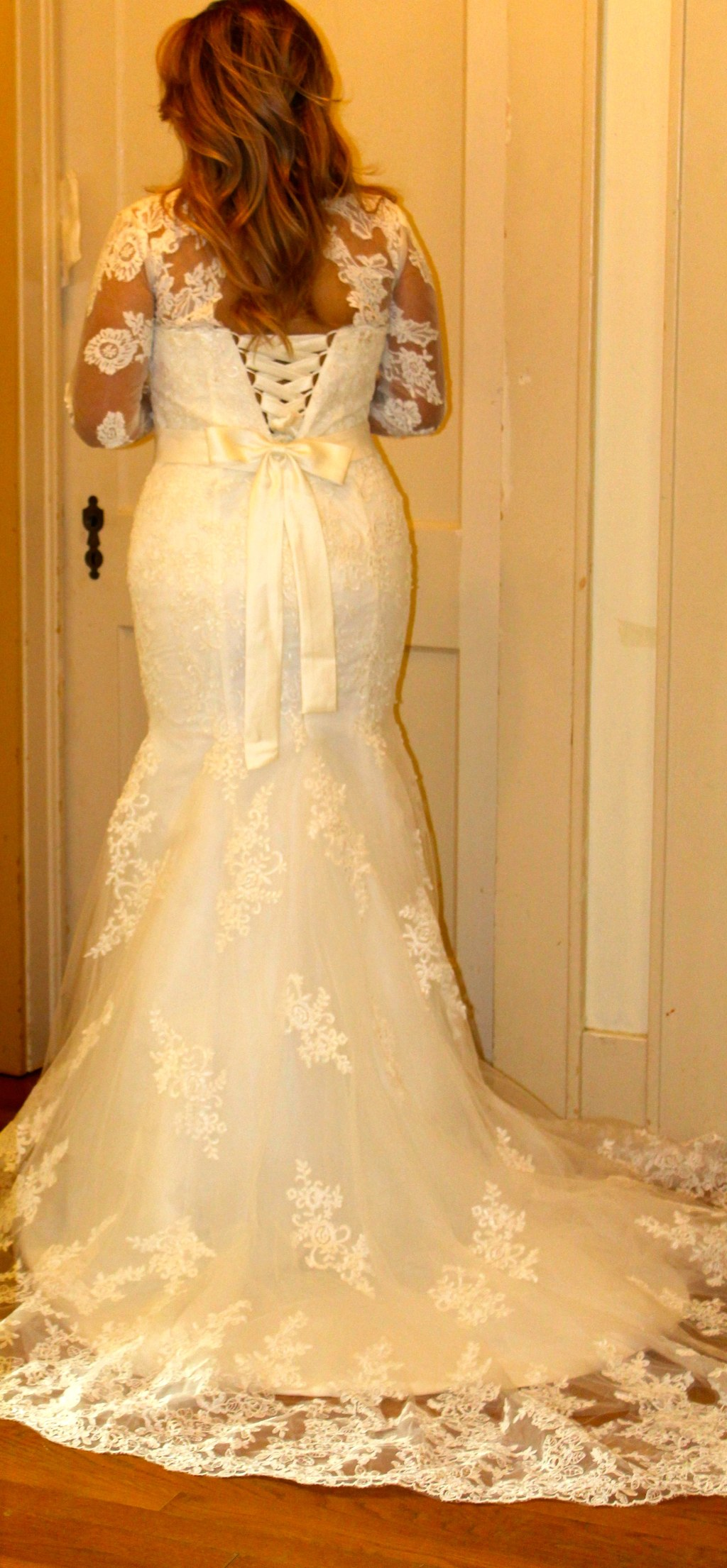 Marisol's Long Sleeve Vintage Wedding Gown White/Ivory