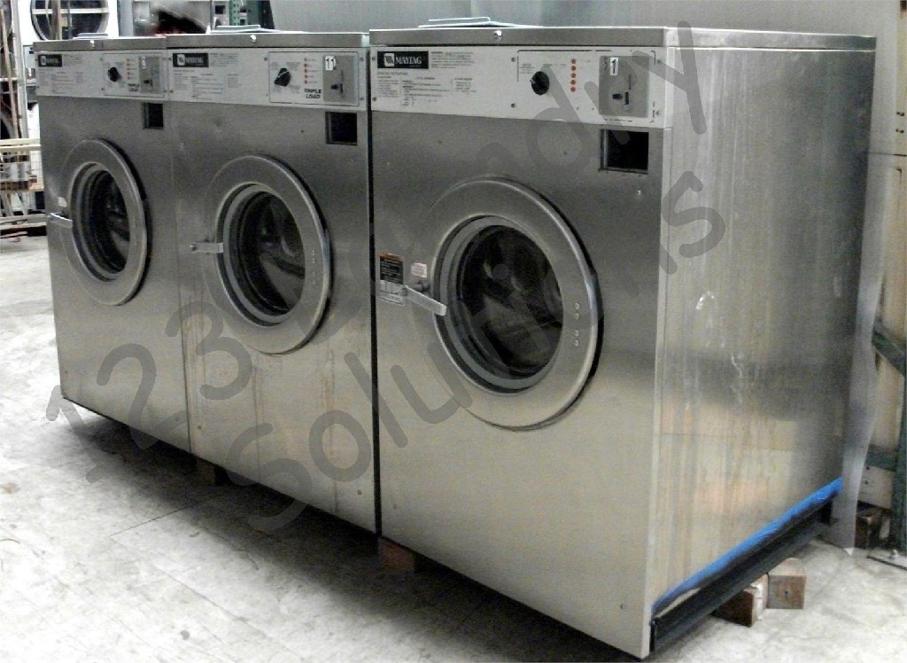 Coin Laundry Maytag Front Load Washer 208-240V 60Hz 3PH MAF35MC3VS Std Steel