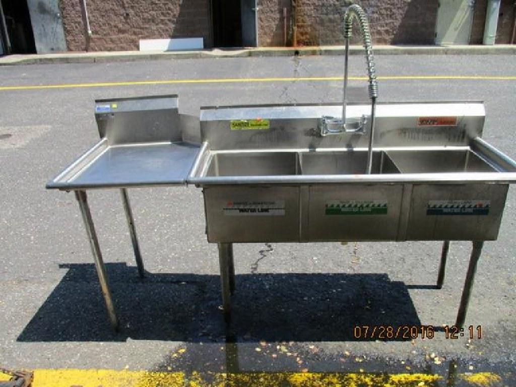 S/S 3 Comp. Sink W/Left Side Drainboard RTR#6063297-04