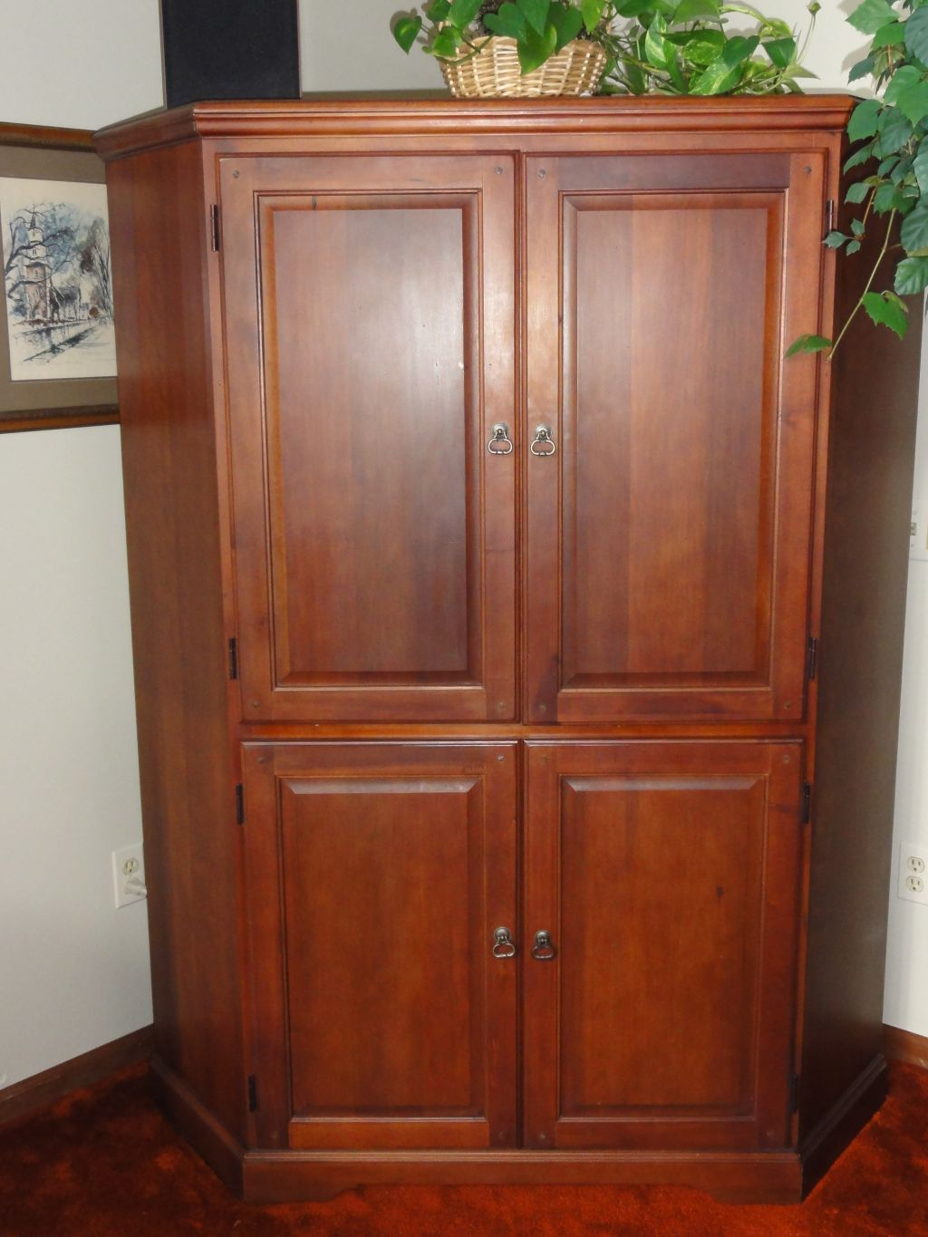 solid cherry entertainment center
