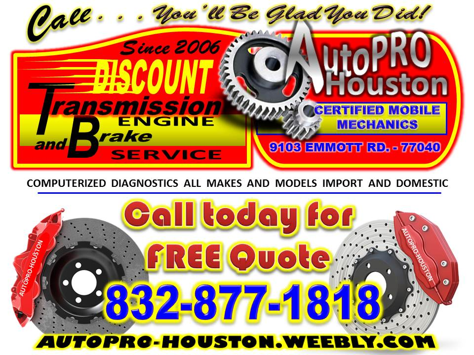 Brake Shop Services Mobile and In Jersey Village, TX