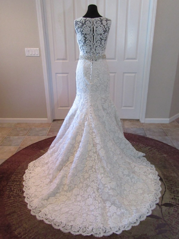 Audrey's Sheath Lace Wedding Gown