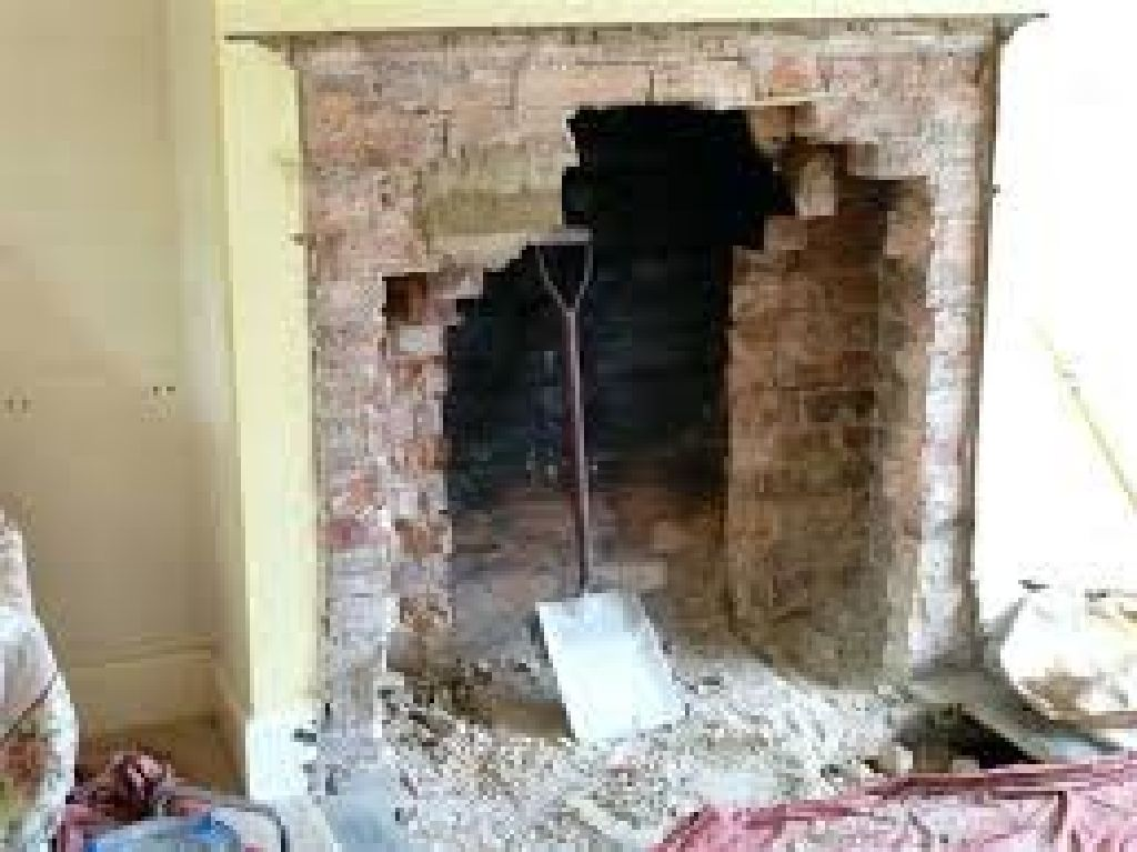 Chimney & fire place - Demo / remove - G.C.