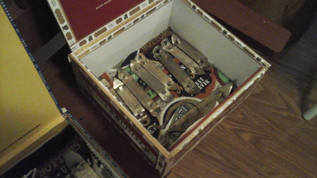Bar Man Cave Vintage Beer Bottle Openers in Cigar  Boxes