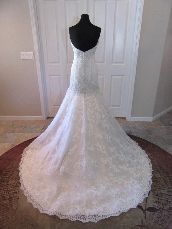 Melanie's Lace Mermaid Strapless Wedding Gown
