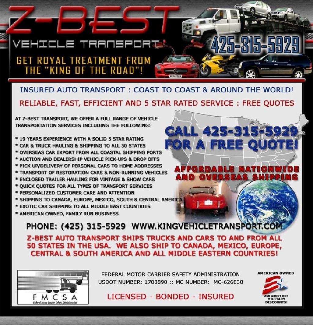 Mudanza de auto carro moto transporte estimado gratis Mario 425-315-5929