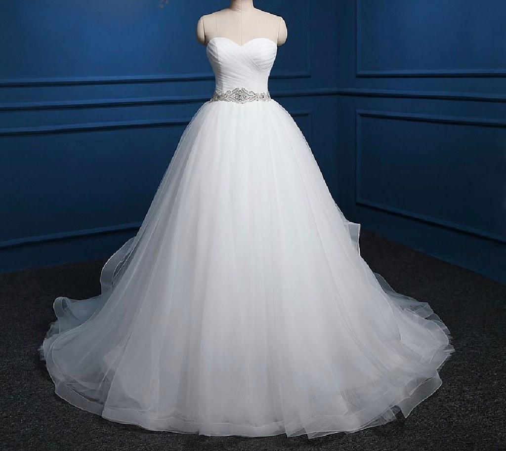Sady's A Line Tulle Wedding Dress