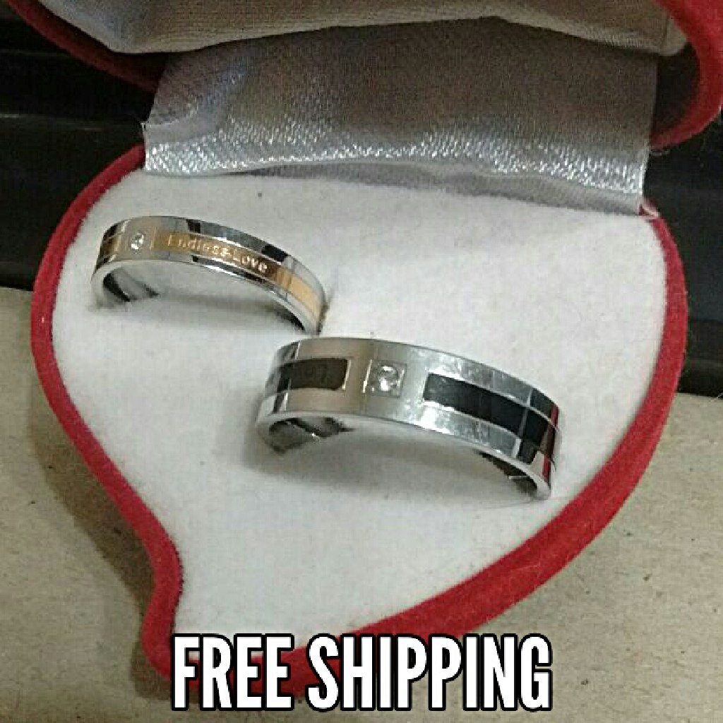 2pc Endless Love Couples Unisex Matching Ring Set Free Shipping