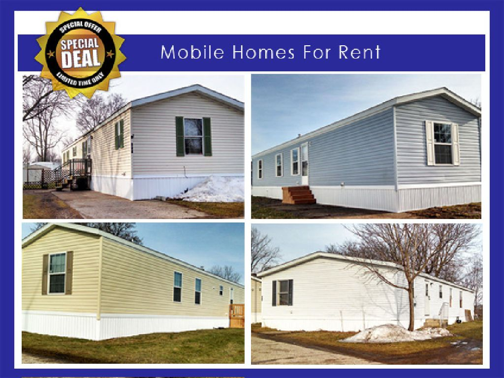 Mobile Homes October Deal! 1st Month Free For Qualified Credit!